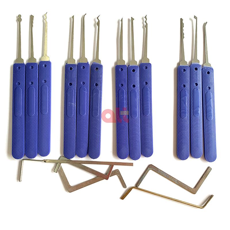 Оптовая продажа; 12 шт. стальные двери открывалка отмычки набор слесарных инструментов разблокировки инструмент для открывания замков слесарные принадлежности палочки замком  <span style=