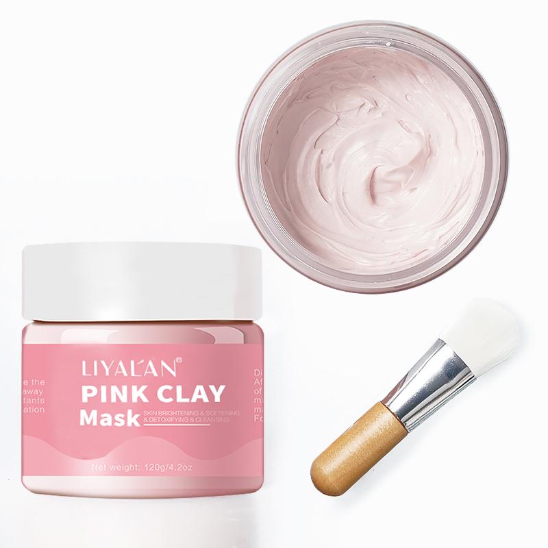 Private Label Bentonite Exfoliating Powder Mud Pink Clay Mask