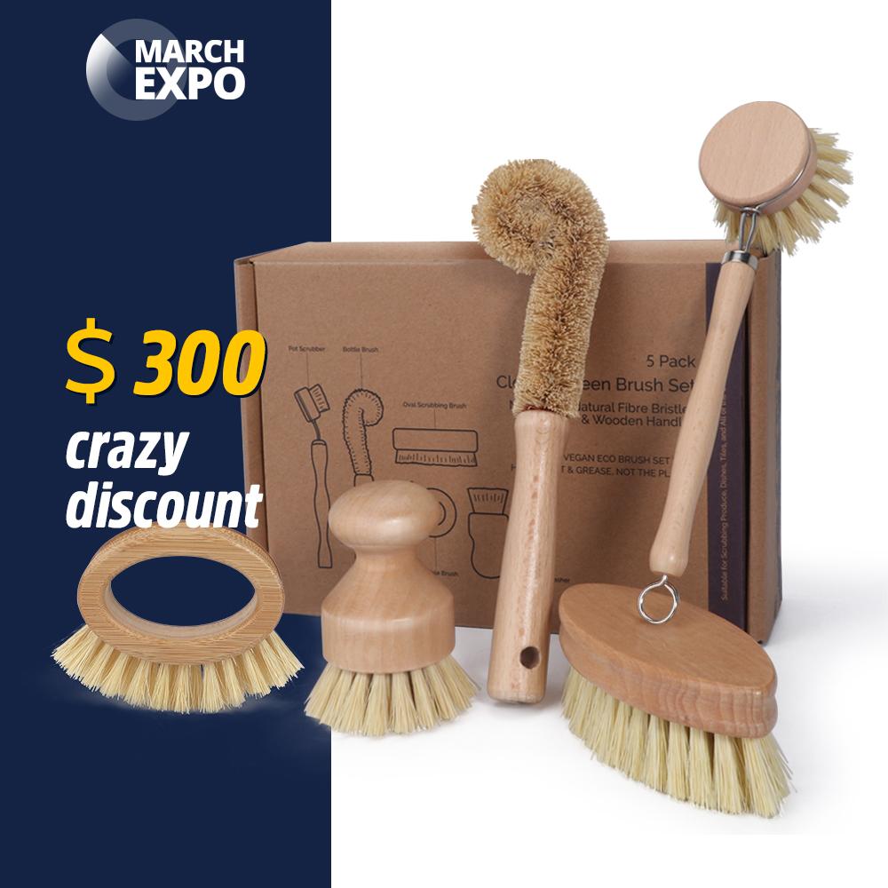 Masthome March Expo 9pcs Kitchen Brush Set All Natural Fibre ...