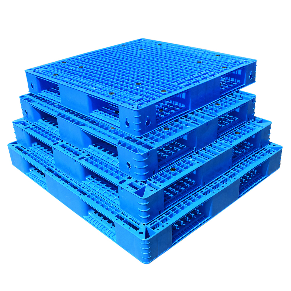 Hot Sale Double sided  grid  plastic pallet 1200*1000*150mm Euro Pallet Plastic HDPE Customer Logo Double Faced LH