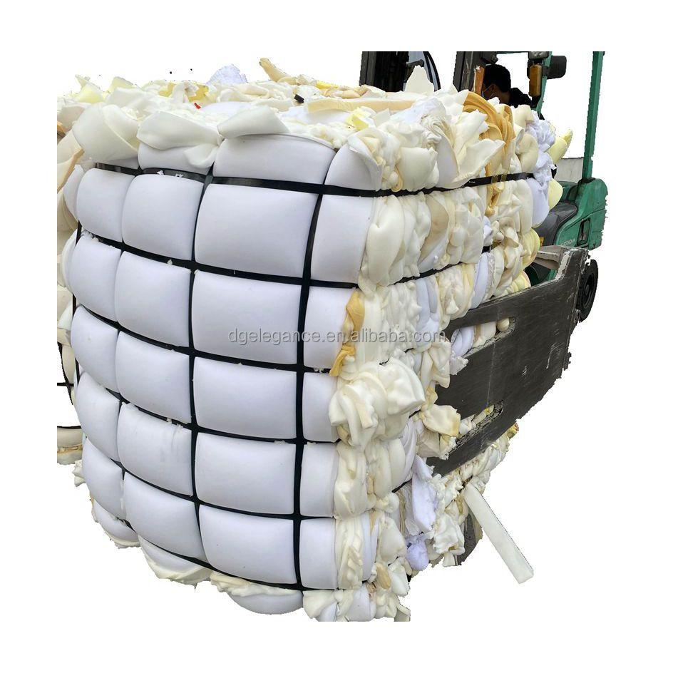 Wholesale high quality 100% clean dry white bra pu foam scrap for rebonded foam