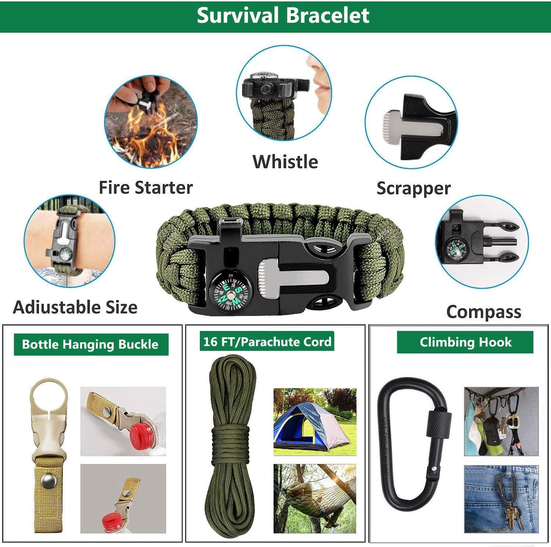Уличные аксессуары для выживания в экстренных ситуациях повседневный комплект 31 в 1 Сумка Molle многофункциональный набор тактического оборудования для защиты кемпинга и путешествий
