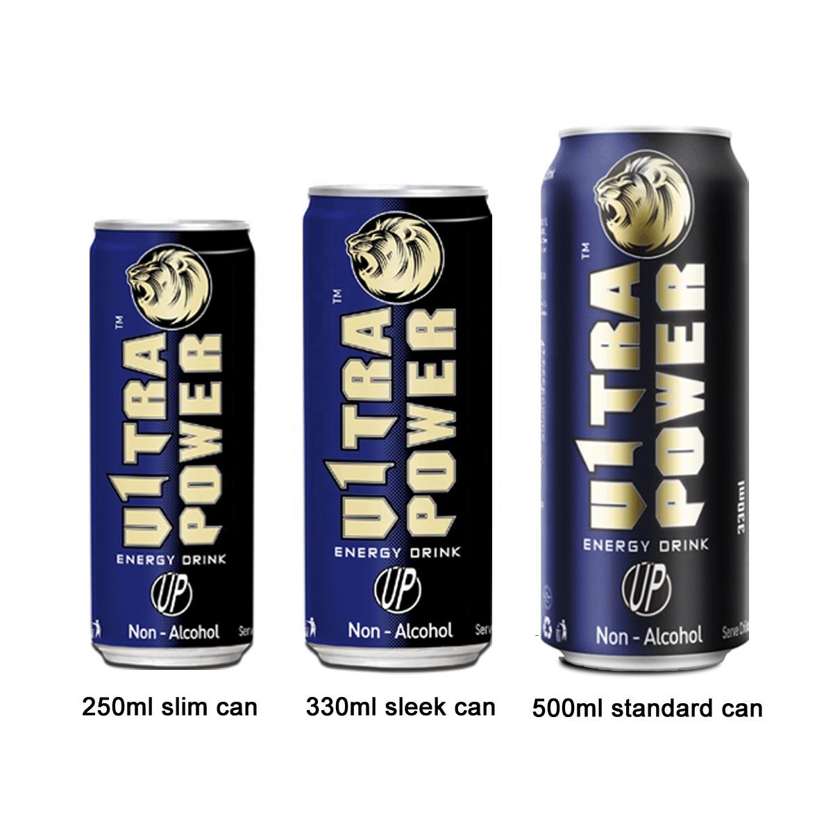 Частная торговая марка энергетического напитка 250 мл/330 мл/500 мл банка питьевого напитка