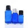 Transparent blau glas dropper flasche