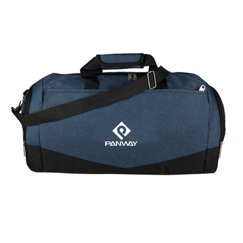 Rpet travel gym bag custom logo Lightweight Waterproof RPET polyester fabric produce Sport travel gym bag