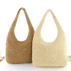 Wholesale Natural Extra Large Tote Straw Bag HandWoven Summer Beach Bali Paper Straw Bag