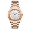 rose gold case stainless steel strap