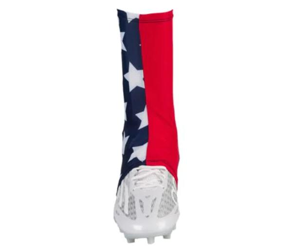 Оптовая продажа на заказ Пустые однотонные белые дизайнерские американские футбольные спортивные взрослые Молодежные Детские чехлы с протектором Чехлы для обуви