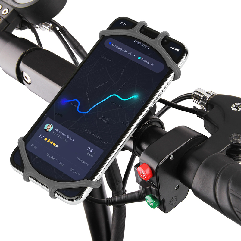 Universal Bicycle Mobile Phone Holder Silicone Motorcycle Handlebar Stand Mount
