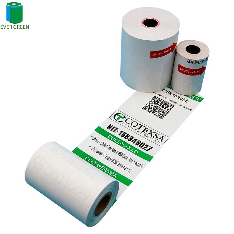 Бесплатный образец 80 мм 57 мм кассовый аппарат до получения печатная бумага Pos термобумажный рулон