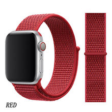 Ремешок для часов Apple Watch 5/4 42 мм 44 мм официальный оригинальный дышащий нейлоновый ремешок для iwatch 3/2/1 38 мм 40 мм аксессуары для часов(Китай)
