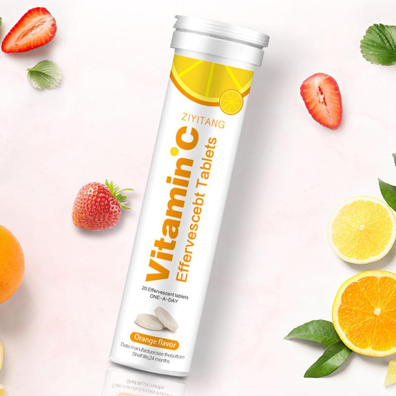 Полезный GMP частная торговая марка Витамин С шипучий таблетки