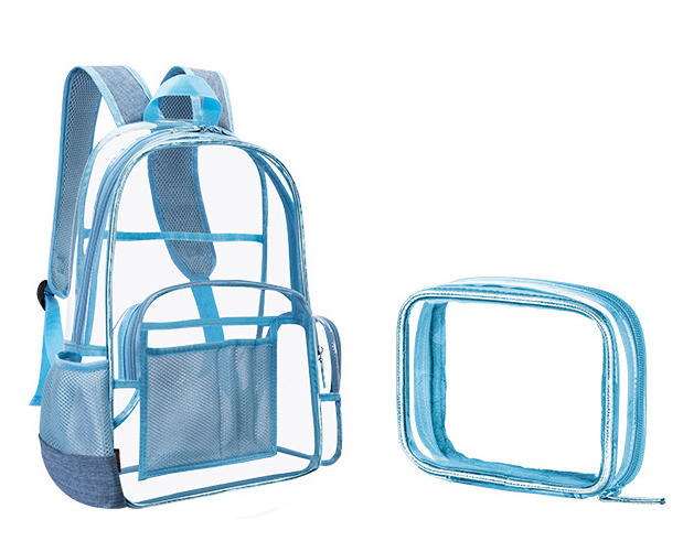 New Heavy Duty Transparent PVC Backpack Clear Backpack