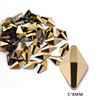 13# 5*8mm Rhombus Gold