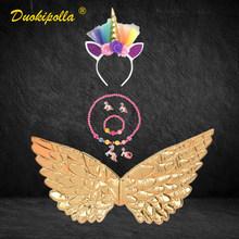 Детское платье с радужным единорогом и длинными хвостами, праздничное платье с крыльями ангела для девочек, костюм принцессы Lol, бальное пла...(Китай)