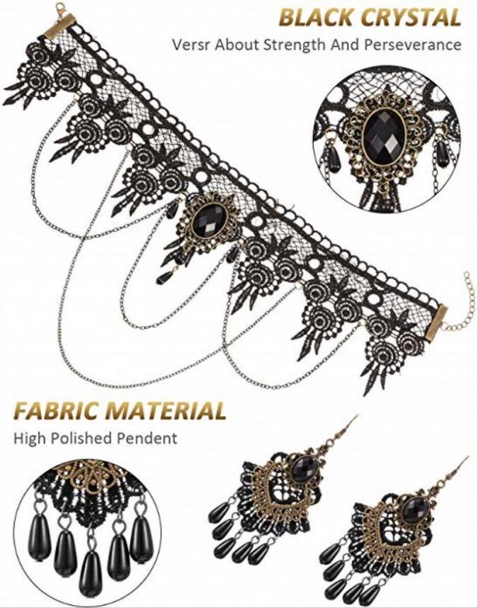 Викторианское ювелирное изделие в стиле стимпанк для женщин с готическим ожерельем чокер серьги леггинсы