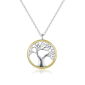 Tree of Life Pendant Necklace for Women Sterling Silver 925 Family Chain Necklaces