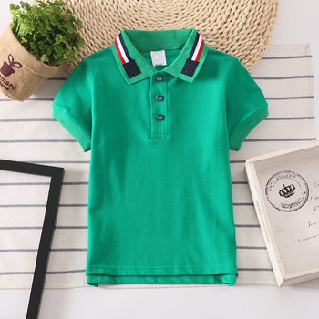 high quality short sleeve yarn dyed collar uniform school kids polo shirt 100 cotton kids polo t-shirt for boys