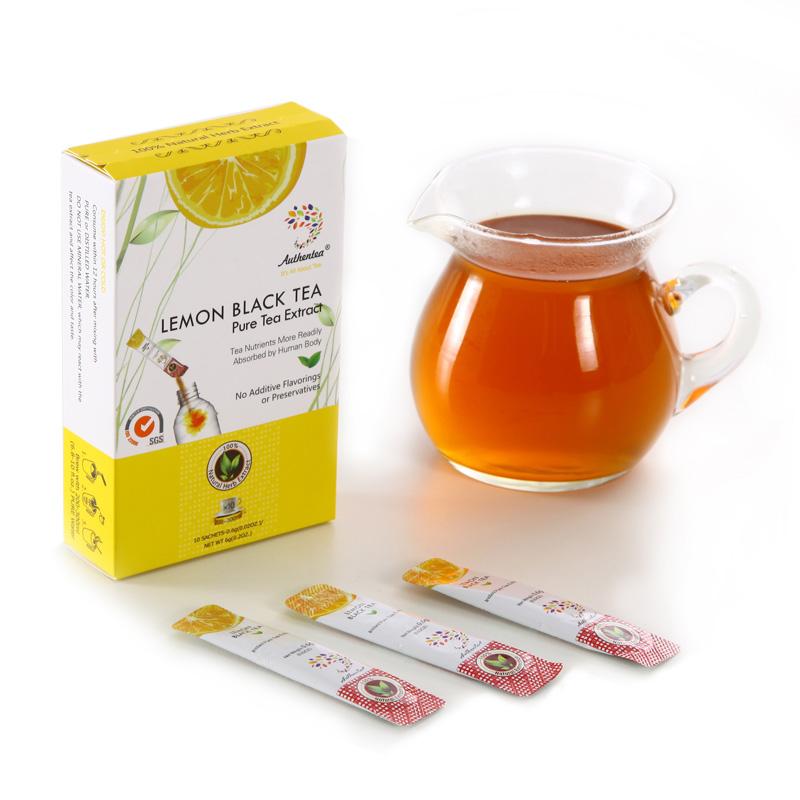 Sachet Package 0.6g Instant Lemon Black Tea Extract Lemon Flavor Ice Fruit Tea - 4uTea   4uTea.com
