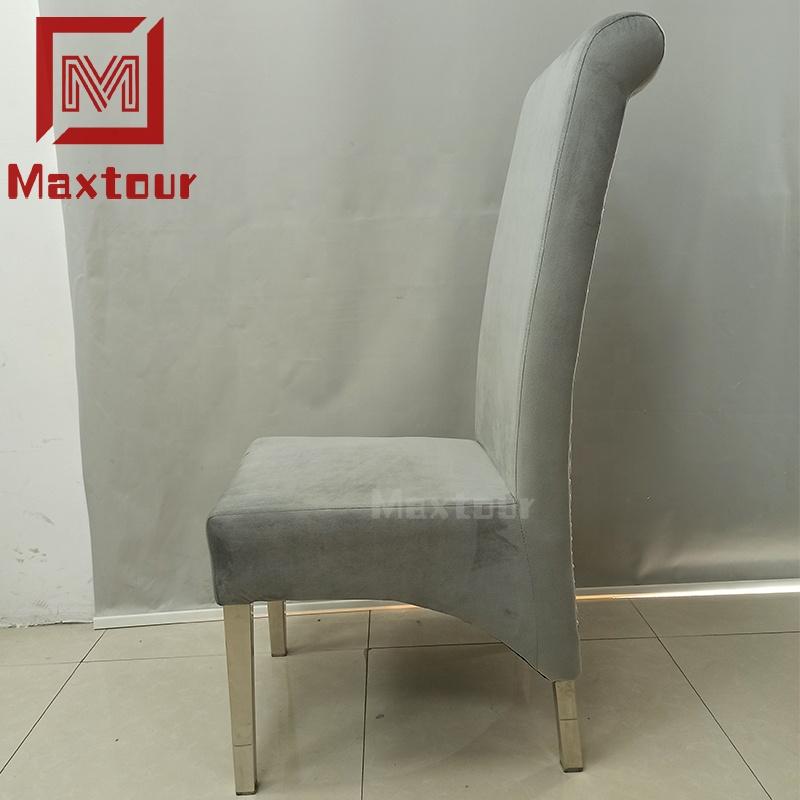 Обеденное кресло с ручкой льва, бархатные обеденные стулья из нержавеющей стали для столовой