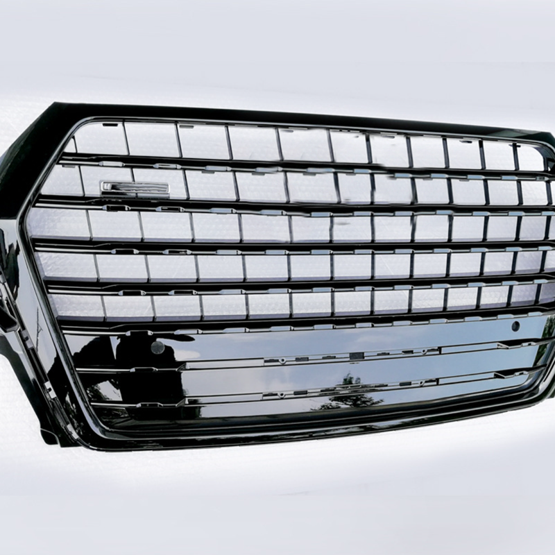 Front Grille Gloss Black Mesh Grill For Audi Q7 4MB 2016 2017 2018 2019 Facelift Audi SQ7 Racing Grill