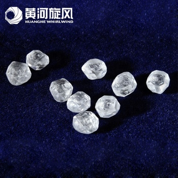 Chinese supplier best lab grown hpht cvd diamond 2ct rough 1 carat uncut price