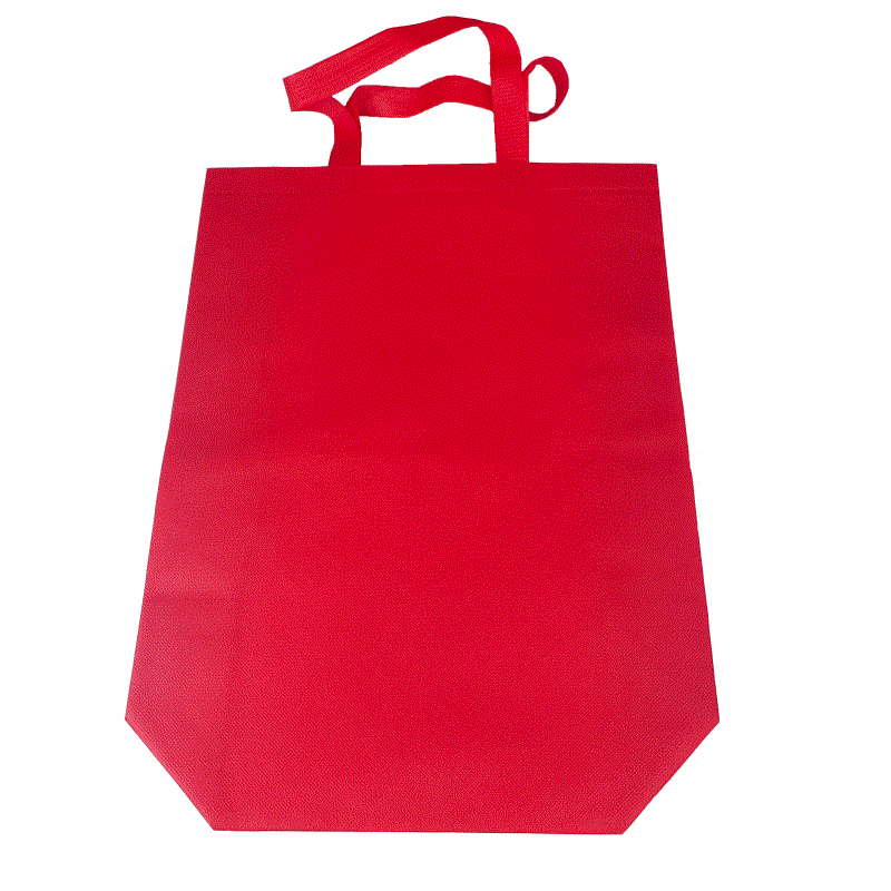 Making by machine manual logo reusable pp small non woven tote shopping carrier bag