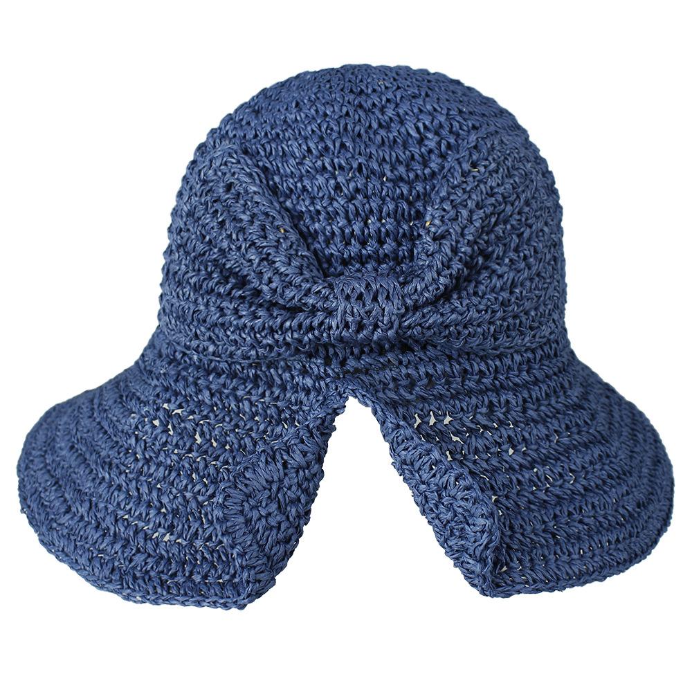 High-quality Women Sun Sombreros Beach Hat Brimless Lady headgear bowknot design bucket hat