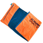 logo jacquard cotton velour sport towel with zipper pocket