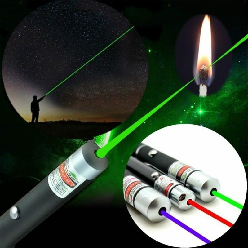 Синяя, красная, зеленая мощная лазерная ручка с лучом, 5 мВт, лазерный прожектор, охотничий лазерный прицел, устройство для обучения, инструмент для выживания на природе