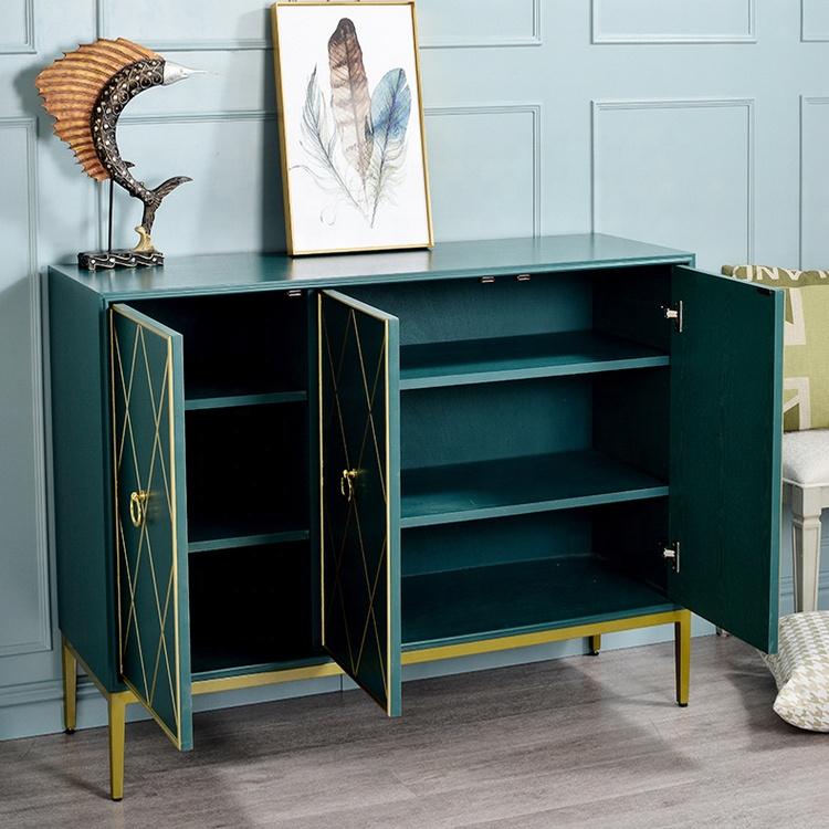 modern living room sideboard design luxury stainless steel sideboard cabinet with 3 doors