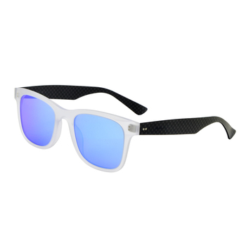 New Arrival Ready To Ship Classic Style Transparent Black Acetate and Carbon Fiber Polarized Sunglasses
