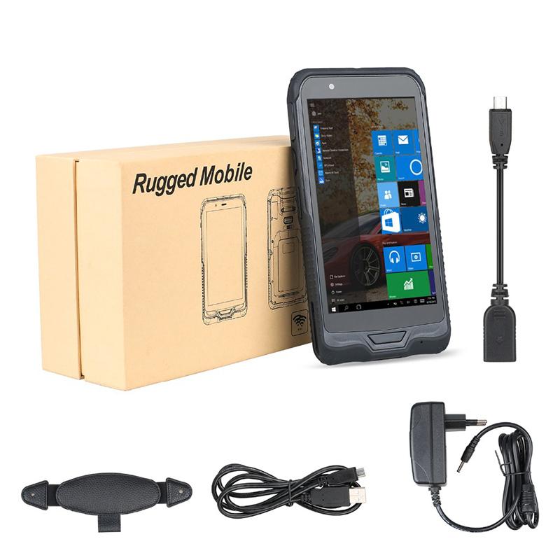 Портативное мобильное устройство 6 дюймов прочный PDA Win 10 сканер штрих-кода с NFC ридером