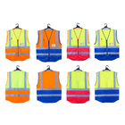 Vest 2021 Factory Direct Low Price Professional Manufacturer Multi-pocket Safety Reflective Vest Customized OEM ODM