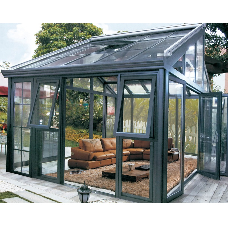 Customized aluminum profile glass house prefab house sunroom price China
