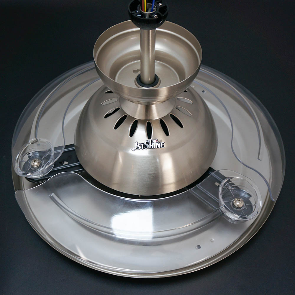 1stshine 42 дюймов конкурентоспособная цена высокая яркость Необычные люстра Складная лопасть LED Потолочная люстра-вентилятор