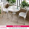 3-2 chair 1 sunflower pattern round table D60cm white