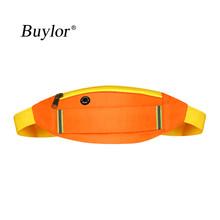 Женская поясная сумка Buylor, Спортивная поясная сумка со светоотражающими вставками, модная поясная сумка для наушников, поясная сумка для бе...(Китай)