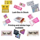 Private Lashes Boxes OEM Custom Private Label Paper Box Logo Eyelash Packaging Empty Acrylic Box Lash Cases