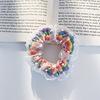 2#Rainbow wave dot hair circle