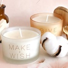 Candle 3 Wick Candle Wholesale Private Label Scented Big Size Soy Wax 3 Cotton Wick Transparent Glass Jar Candle With Lid