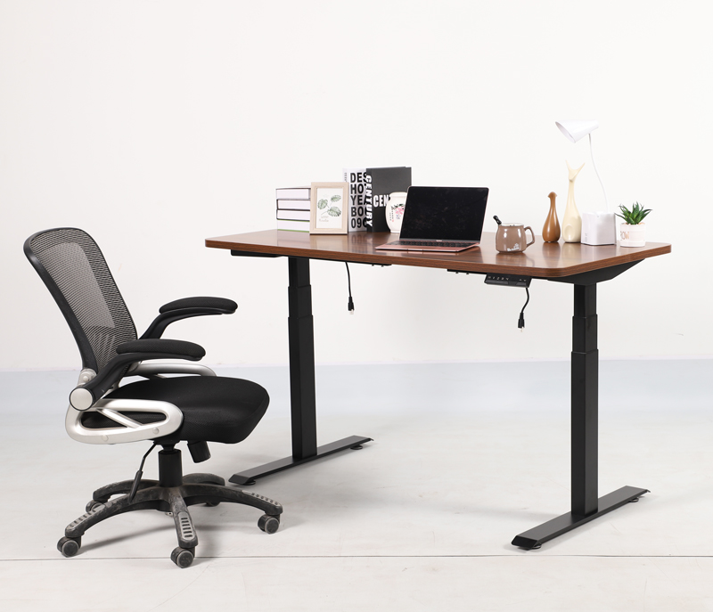 High quality Ergonomic adjustable desk crank and table top for office