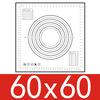 600x600x0,4mm, negro