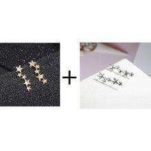 Серьги-сережки с кисточками, сережки в Корейском стиле, простые серьги-клипсы, Женские аксессуары(Китай)