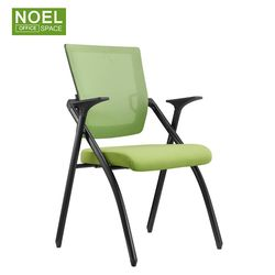 2021 New design colorful training chair with foldable seat office furniture folding chair