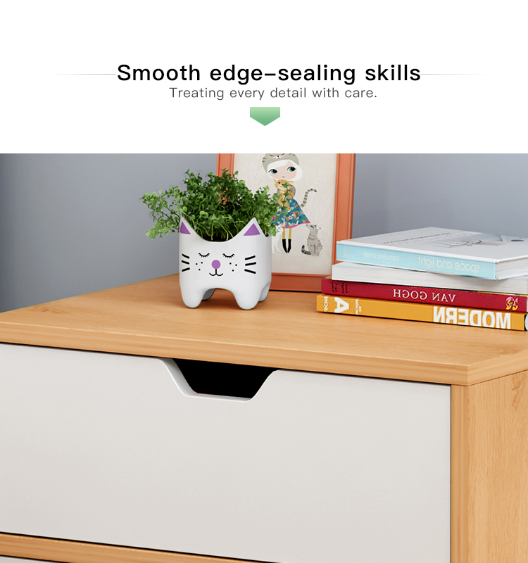 Bedside table simple and modern small apartment solid wood bedside cabinet bedroom storage cabinet
