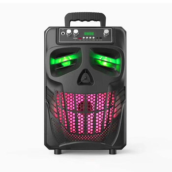 Cool outdoor wireless BT woofer trolley speaker with microphone and super bass for party