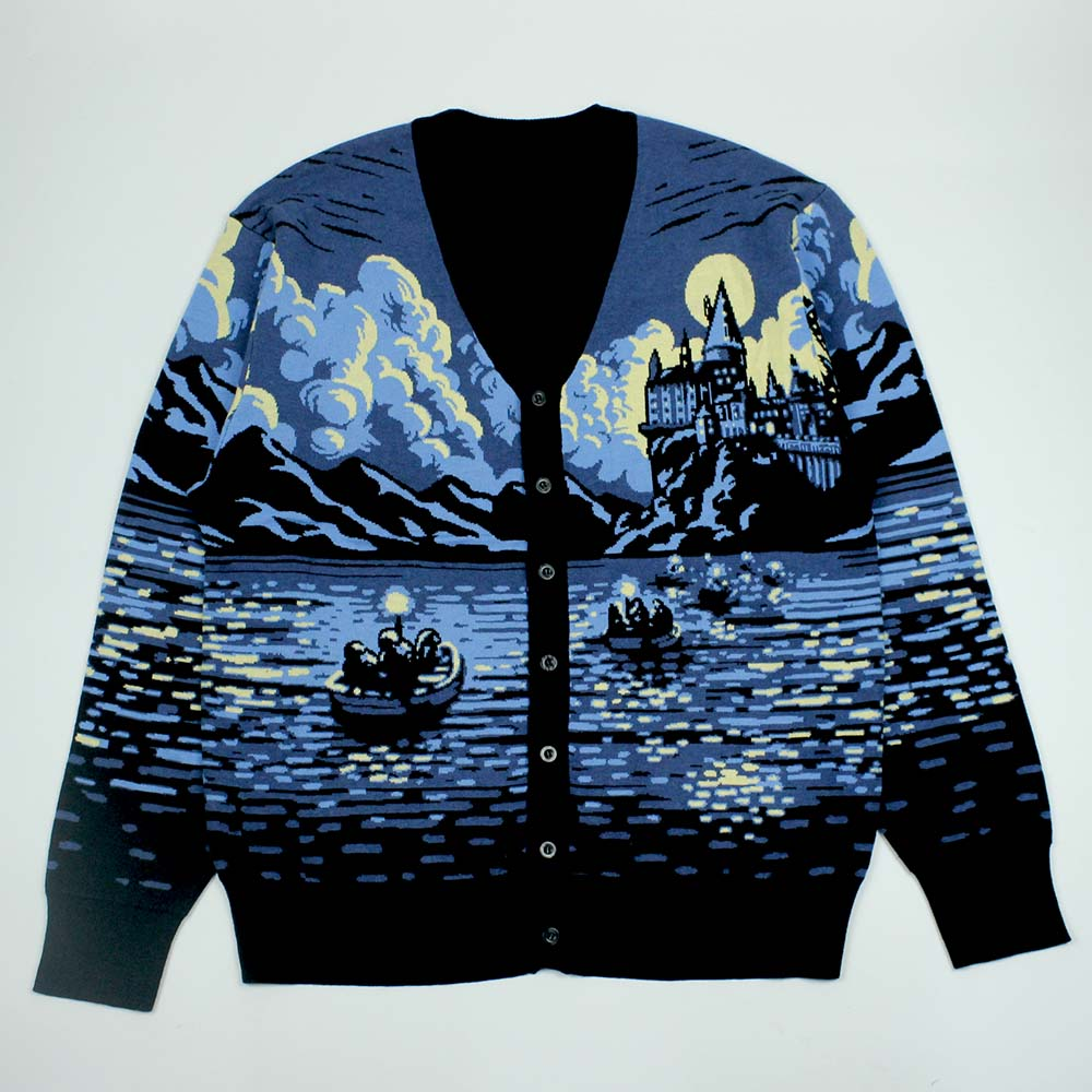 Factory accept small order unisex fashion cotton oversized knitted jacquard custom cardigan