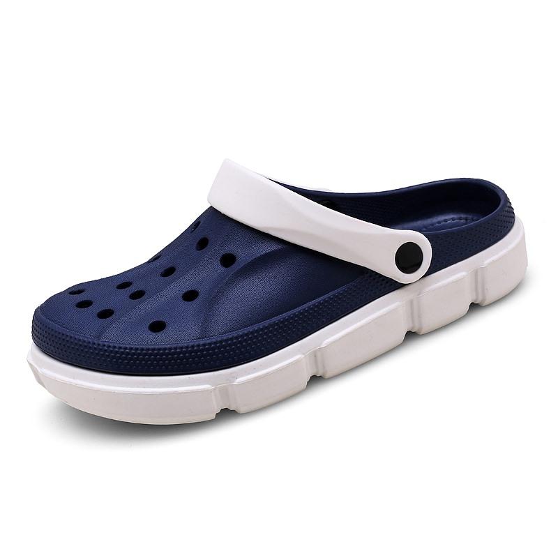 Flat Men Summer EVA Beach Shoes Mixed Color Light Weight Men Water Men Clog Shoes