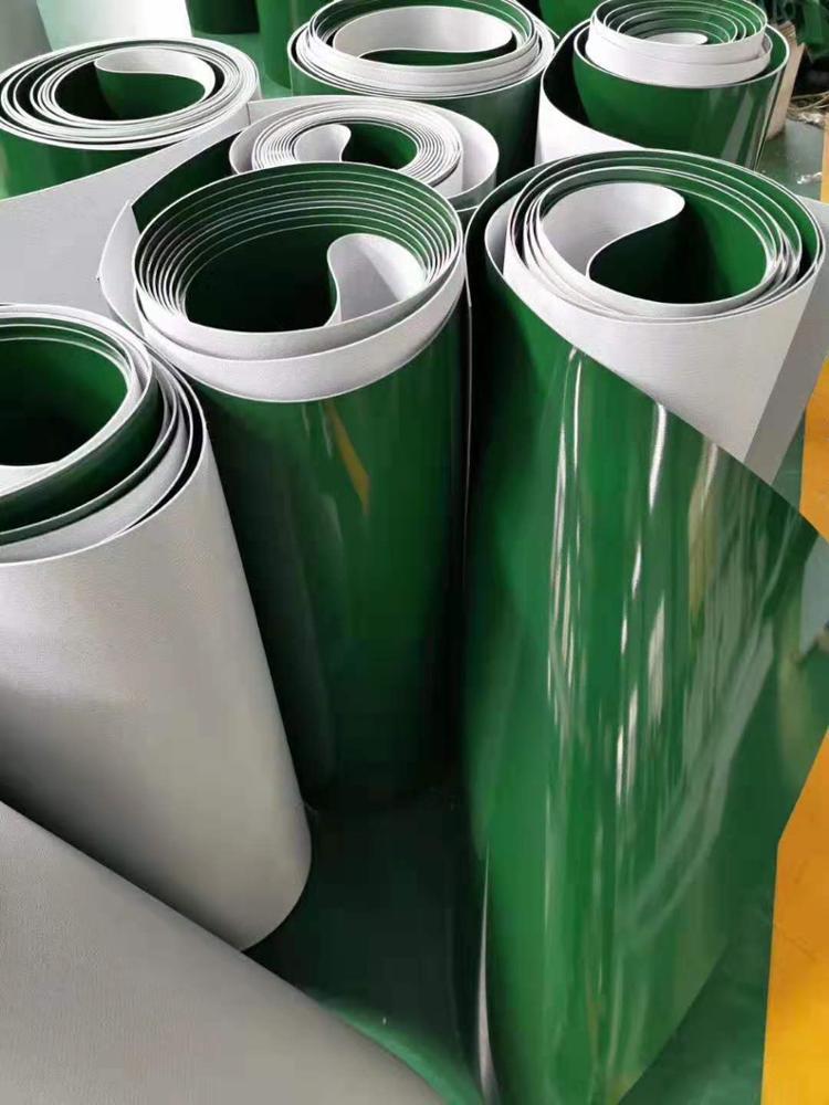 Roll conveyor belt 3 ply PU/PVC machine conveyor belt manufacturer